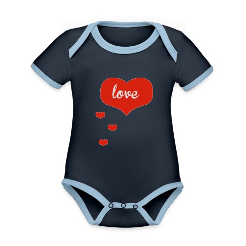 baby boo design - Organic Baby Contrasting Bodysuit