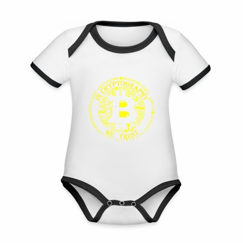 In cryptography we trust 2 - Organic Baby Contrasting Bodysuit