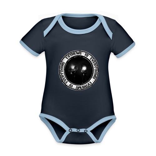 EXTREME IS EVERYTHING LOGO - Organic Baby Contrasting Bodysuit