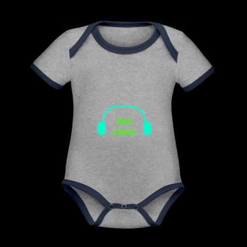 ARLEK CYPETAV - Body Bébé bio contrasté manches courtes