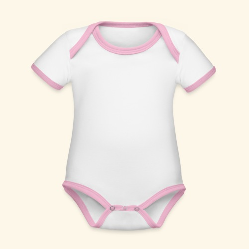 Han Ouais GTA blanc - Body Bébé bio contrasté manches courtes