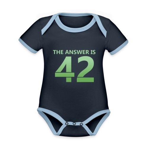 42 - Organic Baby Contrasting Bodysuit