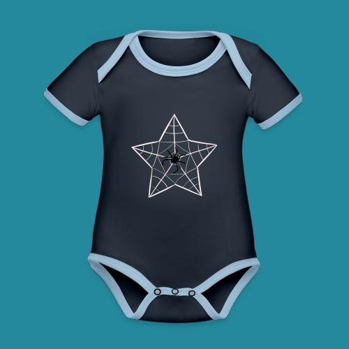 étoile d'araignée - Body Bébé bio contrasté manches courtes