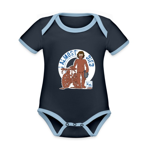 I almost died - Organic Baby Contrasting Bodysuit