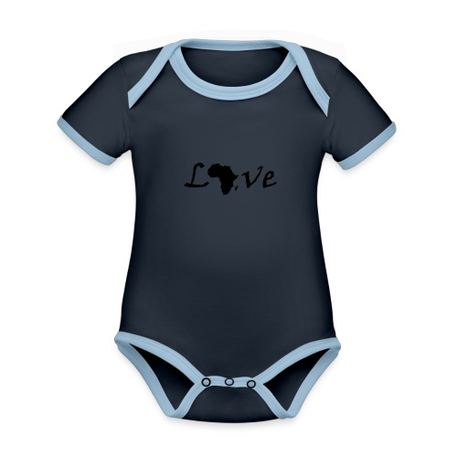 Love Africa - Baby Bio-Kurzarm-Kontrastbody
