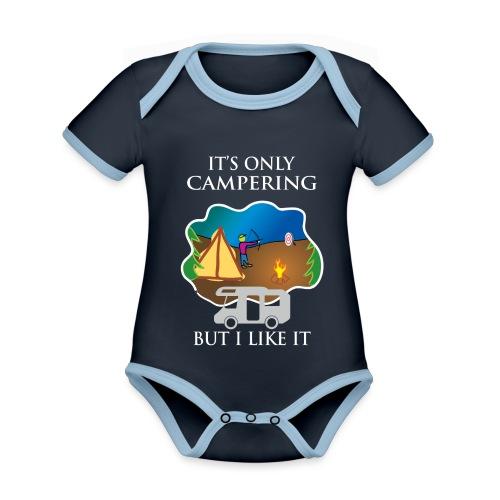 To tylko campering, ale to lubię - Ekologiczne body niemowlęce z krótkim rękawem i kontrastowymi lamówkami