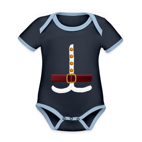 Regalo divertido del traje de Papá Noel para los amantes de Navidad - Body contraste para bebé de tejido orgánico