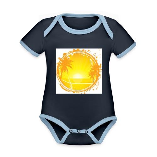 Sunburn - Organic Baby Contrasting Bodysuit