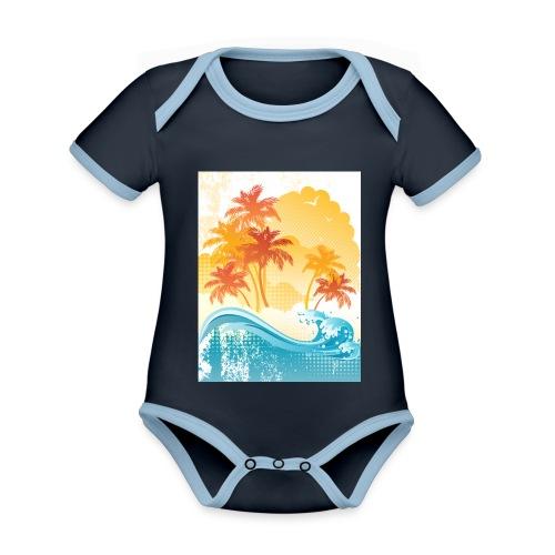 Palm Beach - Organic Baby Contrasting Bodysuit