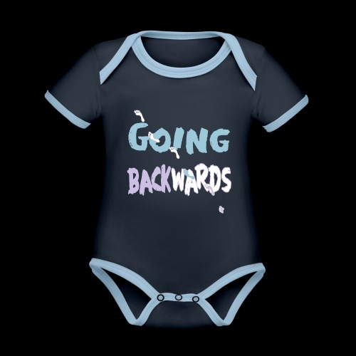 backwardgoing - Baby Bio-Kurzarm-Kontrastbody