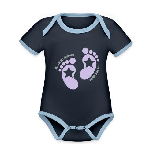little star girl - Baby Bio-Kurzarm-Kontrastbody
