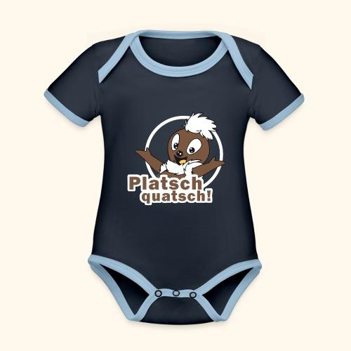 Pittiplatsch 2D Platschquatsch - Baby Bio-Kurzarm-Kontrastbody