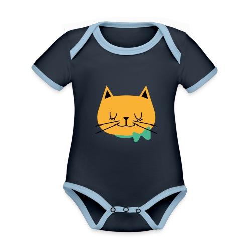 cat - Body Bébé bio contrasté manches courtes