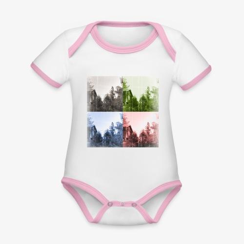 Torppa - Vauvan kontrastivärinen, lyhythihainen luomu-body