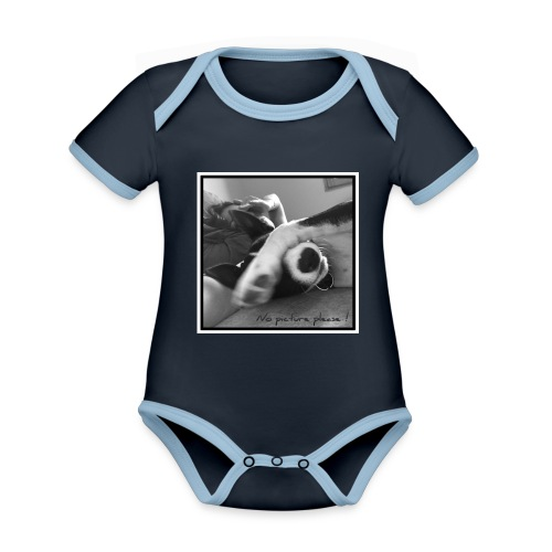 Pleasenopicture - Body Bébé bio contrasté manches courtes