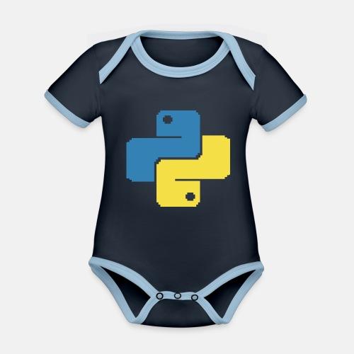 Python Pixelart - Organic Baby Contrasting Bodysuit