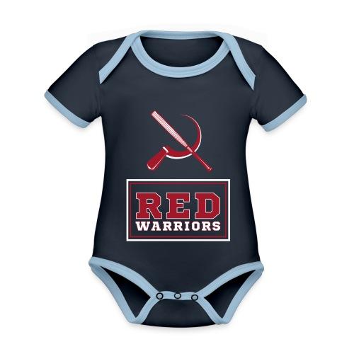 Red Warriors Logo2 - Body Bébé bio contrasté manches courtes