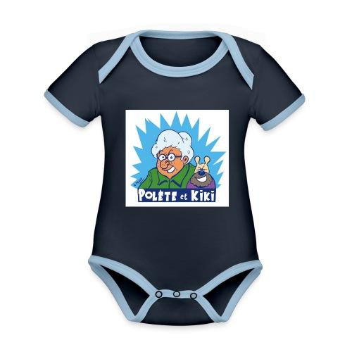tshirt polete et kiki 1 - Body Bébé bio contrasté manches courtes
