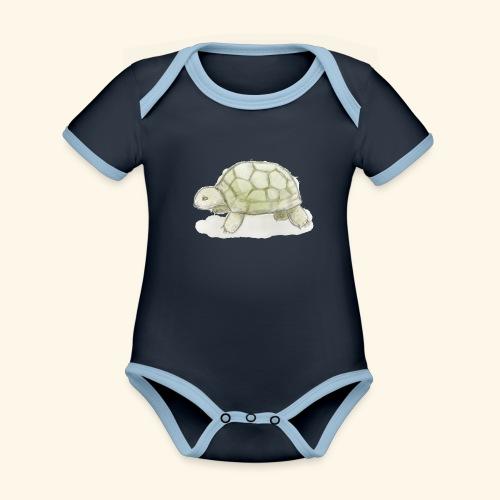 20180923_SKÖLDPADDA - Ekologisk kontrastfärgad kortärmad babybody