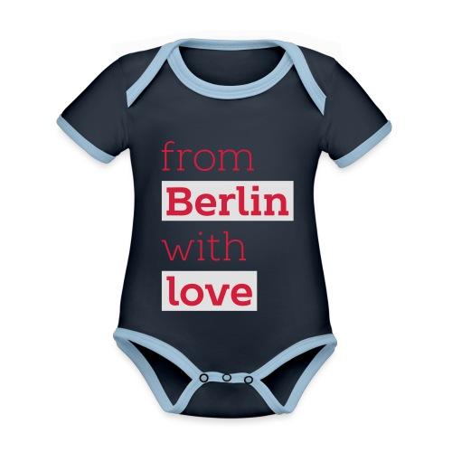 From Berlin with Love - Baby Bio-Kurzarm-Kontrastbody