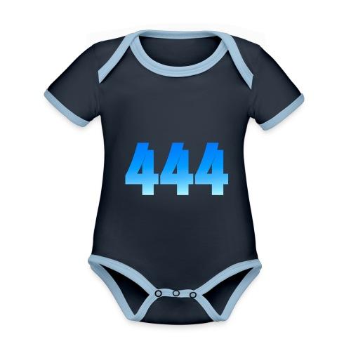 444 annonce que des Anges vous entourent. - Body Bébé bio contrasté manches courtes