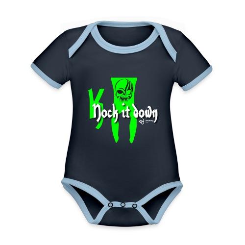 Nock it down - Baby Bio-Kurzarm-Kontrastbody