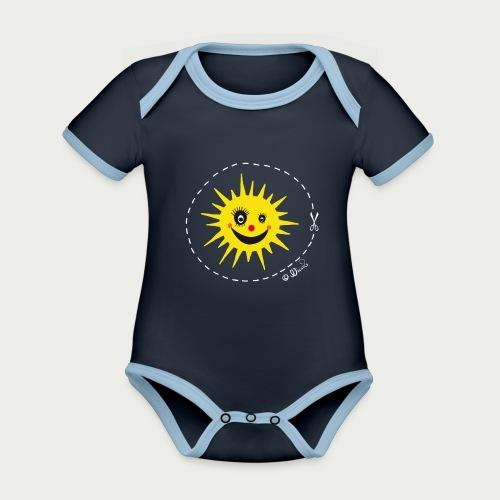 Sunny Sunshine - Baby Bio-Kurzarm-Kontrastbody