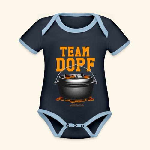 Dutch Oven T-Shirt Team Dopf - Baby Bio-Kurzarm-Kontrastbody
