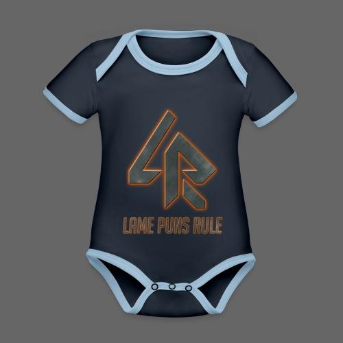 Lame Puns Rule: Logo - Organic Baby Contrasting Bodysuit