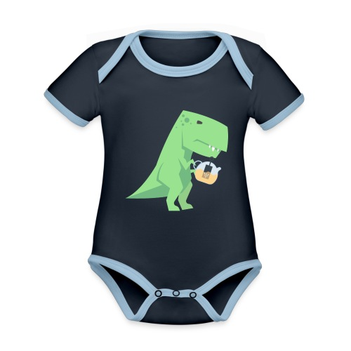 Tea-Saurus - Baby Bio-Kurzarm-Kontrastbody