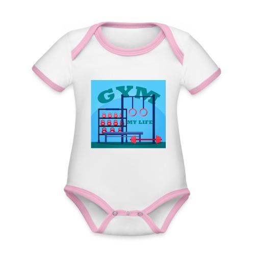 GYM - Vauvan kontrastivärinen, lyhythihainen luomu-body