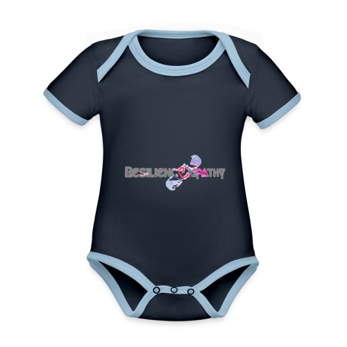 Resiliencempathy - Body da neonato a manica corta, ecologico e in contrasto cromatico