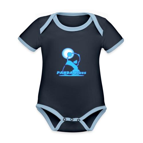 PANDABLUES - Body Bébé bio contrasté manches courtes