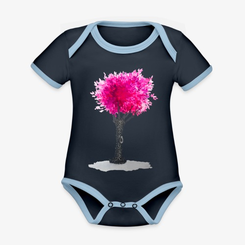 Tree - Organic Baby Contrasting Bodysuit