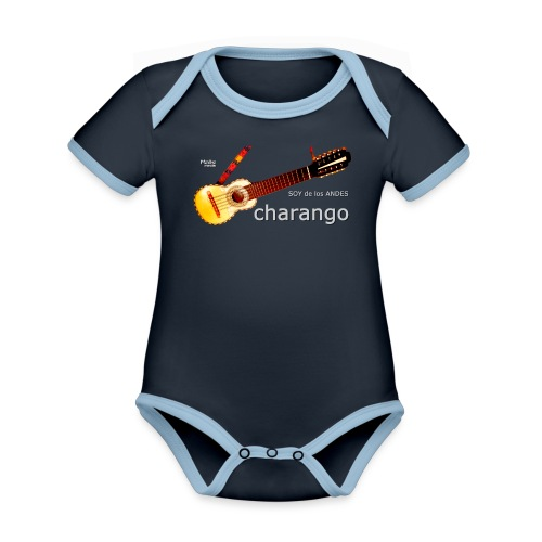 De los ANDES - Charango II - Body Bébé bio contrasté manches courtes