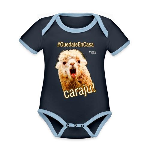 Quedate En Casa Caraju - Body contraste para bebé de tejido orgánico