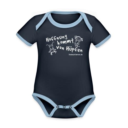 Hoffnung kommt von Hüpfen - Kontrastline - Baby Bio-Kurzarm-Kontrastbody