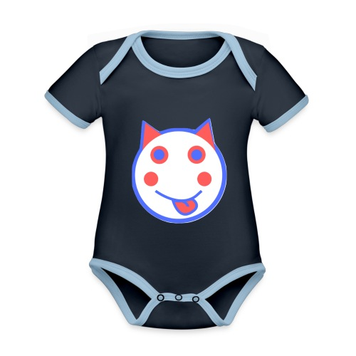 Red White And Blue - Alf Da Cat - Organic Baby Contrasting Bodysuit