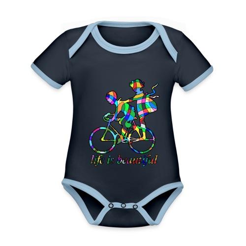 Life is beautiful - Baby Bio-Kurzarm-Kontrastbody