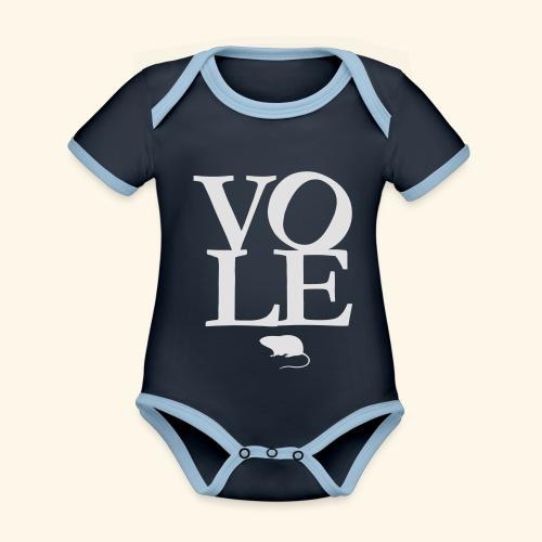 Vole - Baby Bio-Kurzarm-Kontrastbody
