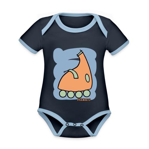 Patin Warhol 4 - Body contraste para bebé de tejido orgánico