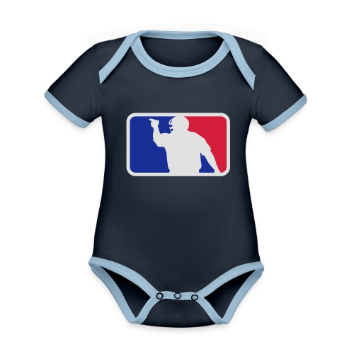 Baseball Umpire Logo - Organic Baby Contrasting Bodysuit