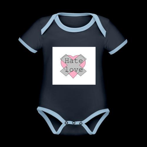 Hate love - Body contraste para bebé de tejido orgánico