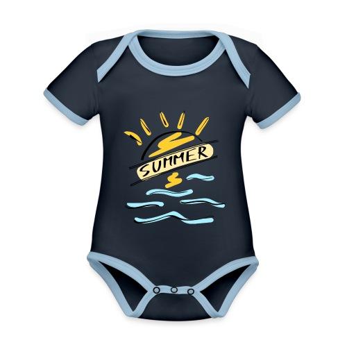 Summer - Body Bébé bio contrasté manches courtes