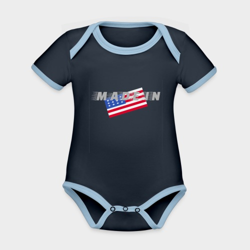 Made In USA - Organic Baby Contrasting Bodysuit