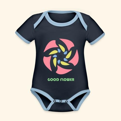 GOOD FLOWER - Body contraste para bebé de tejido orgánico