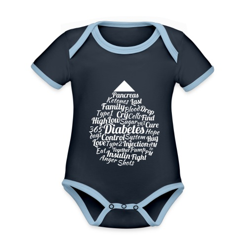 CURE DIABETES - Organic Baby Contrasting Bodysuit