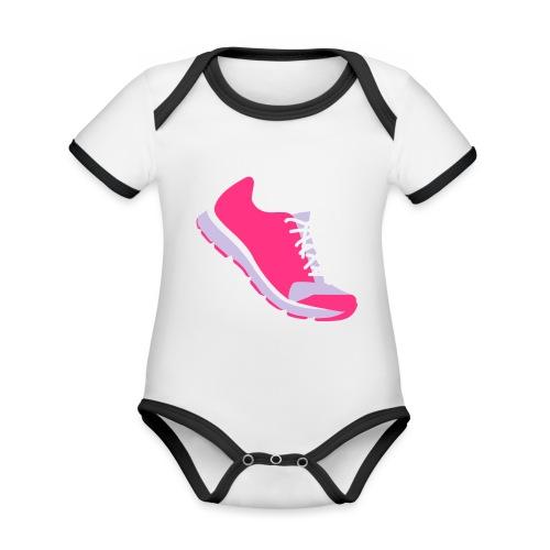 Laufschuh - Baby Bio-Kurzarm-Kontrastbody
