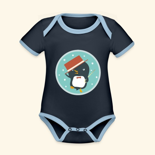 Dance With Me - Organic Baby Contrasting Bodysuit