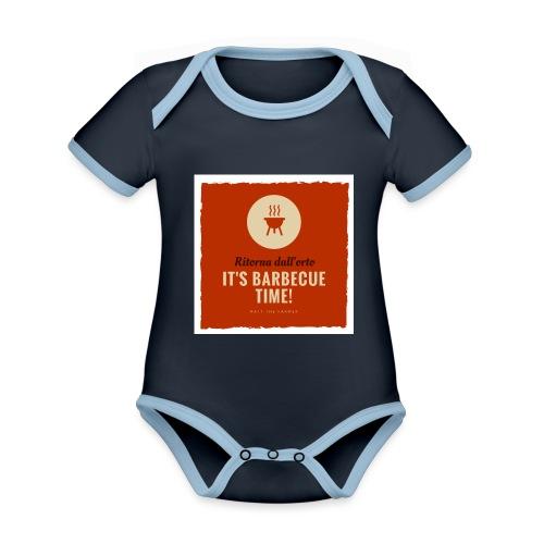 Solo una cosa può farti tornare dall'orto... - Body da neonato a manica corta, ecologico e in contrasto cromatico